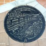 山梨県大月市のマンホールの蓋