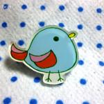 プラ板アクセサリー小鳥