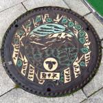 軽井沢のマンホールの蓋