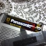 ラジオの電池の交換