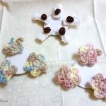 お花のモチーフと珈琲豆のクリップ