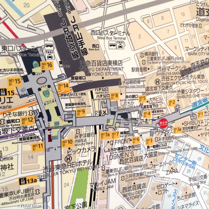 渋谷駅 地下通路 地図 Map