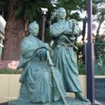 赤坂 勝海舟・坂本竜馬の師弟像