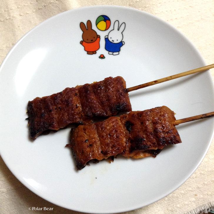 うなぎの串焼き