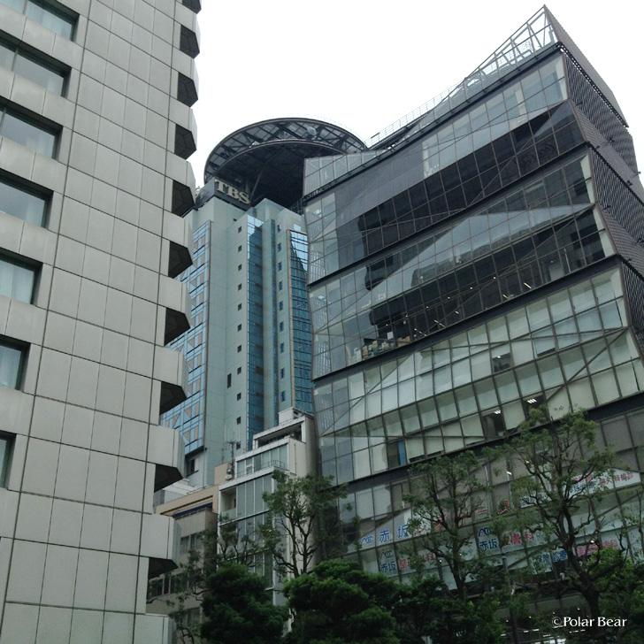 株式会社ポーラベア 最寄り駅の赤坂駅のそばにはTBSテレビさんがあります