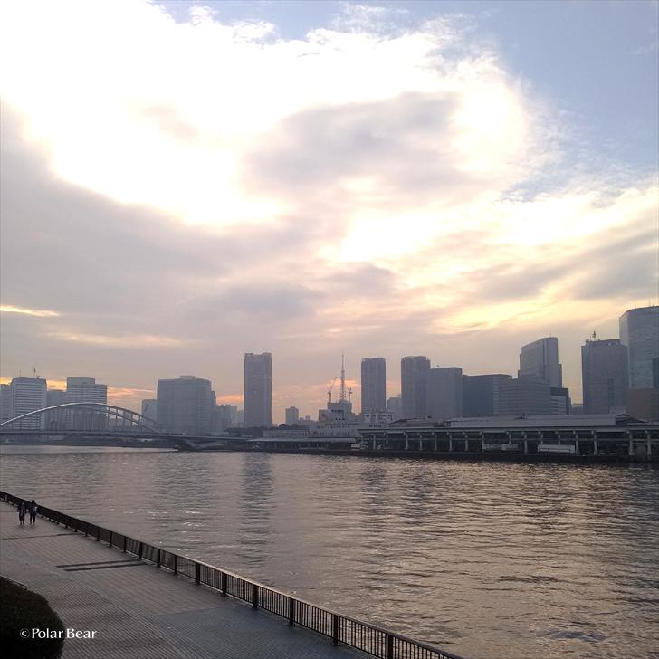 勝鬨橋 かちどき 隅田川 散策 ポーラベア