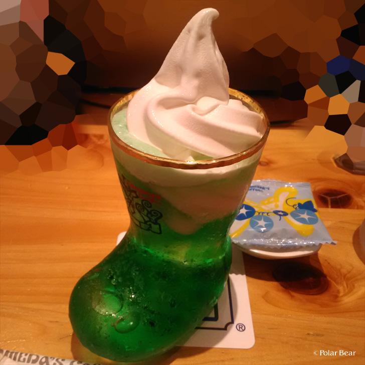 クリームソーダ ソフトクリーム ポーラベア