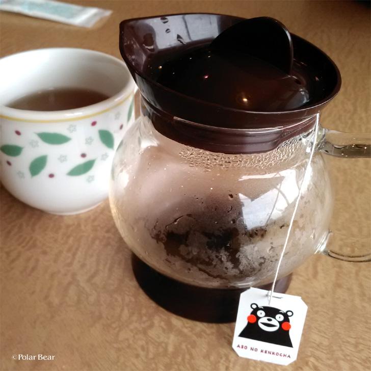 デニーズ モーニング くまモン 健康茶 ポーラベア