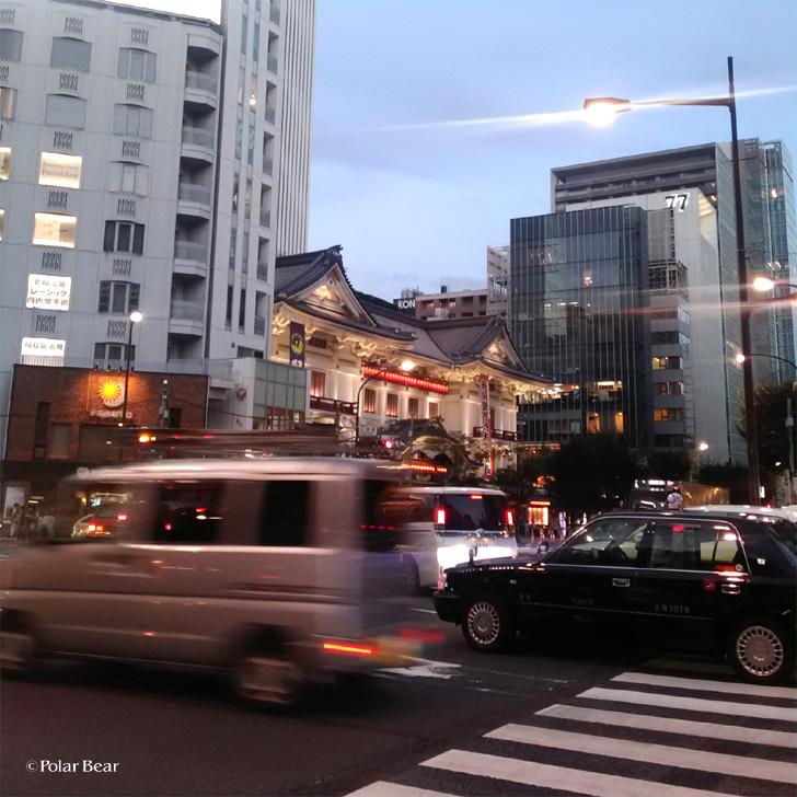 銀座 散策 ポーラベア 歌舞伎座