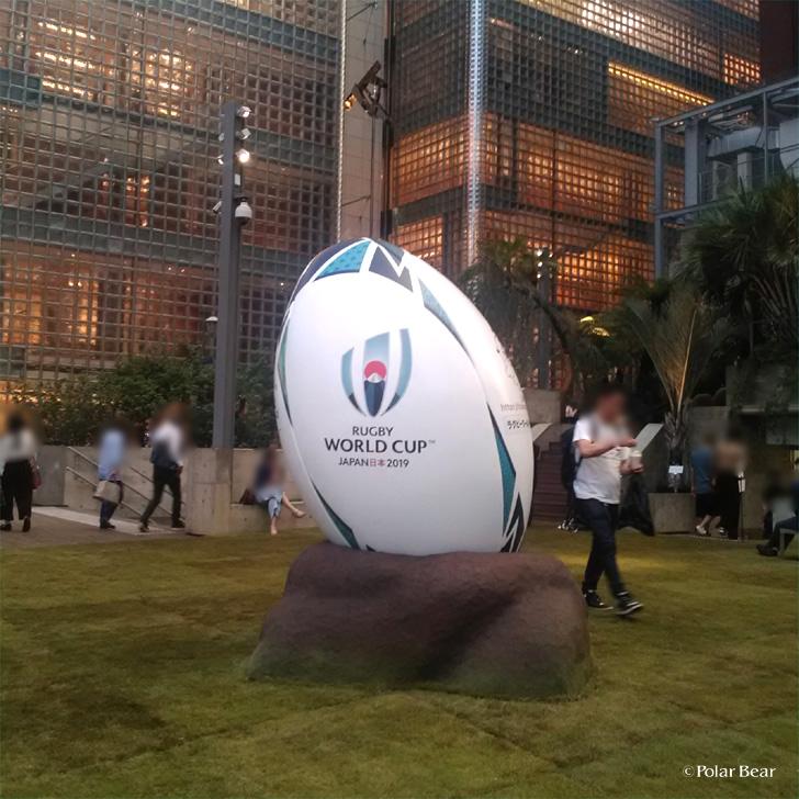 銀座 散策 ポーラベア ラグビーワールドカップ
