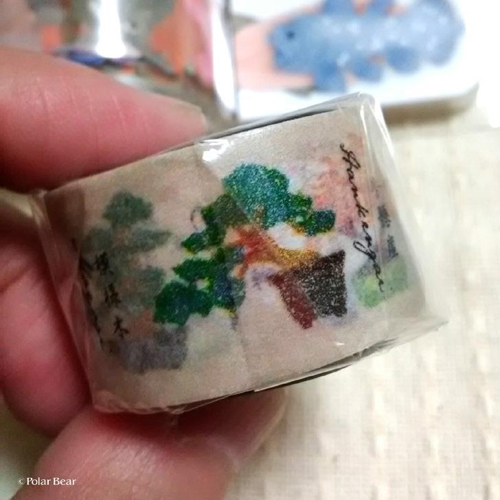ポーラベア 盆栽のイラストのマスキングテープ