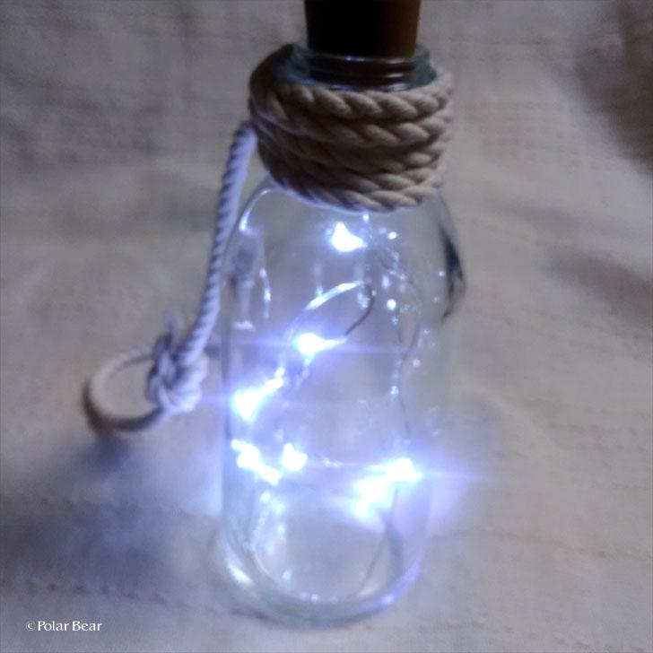 LED ワイヤーライト 100円均一 ポーラベア