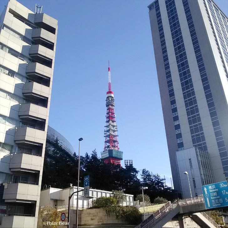 港区 坂 がんぎざか 麻布台 雁木坂 ポーラベア 東京タワー