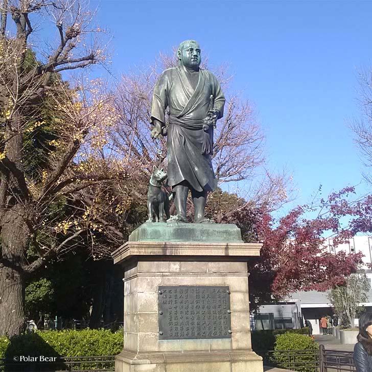 上野公園 西郷隆盛像 ポーラベア