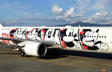 mickeymouse ラッピング飛行機 空港
