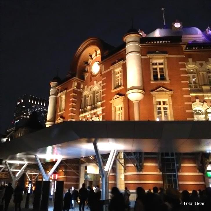 東京駅 駅舎ライトアップ ポーラベア