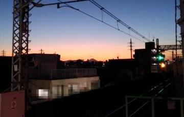 2019年 元旦 富士山 ポーラベア 夕焼け