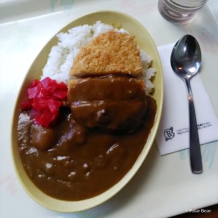 中野区 区役所 食堂 ランチ ロースカツカレー ポーラベア