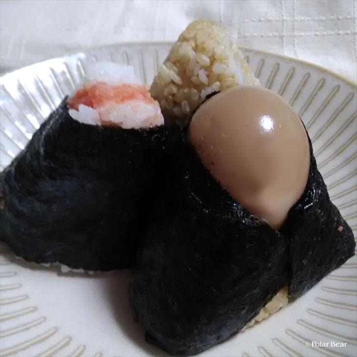 おにぎり 心亭さん 新潟 米 味玉 辛子明太子 玄米塩むすび
