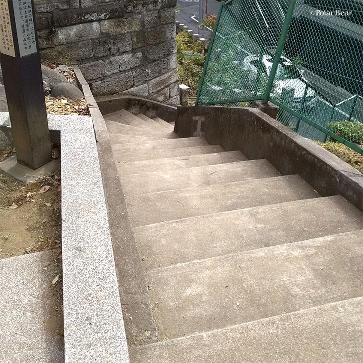 新宿区 坂 山吹坂 やまぶきざか 西向天神社 ポーラベア