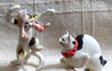 歌川国芳 猫 ネコ ポーラベア 踊る猫又 鼠よけの猫