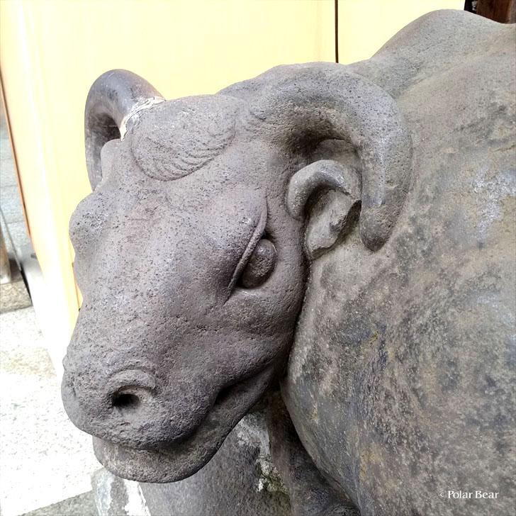 湯島天満宮 湯島天神 御神牛 ごしんぎゅう 撫牛 なでうし 東京都 文京区 ポーラベア