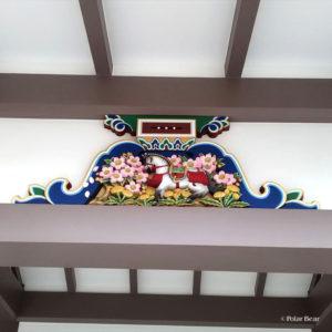 湯島天満宮 湯島天神 蟇股 かえるまた 馬 東京都 文京区 ポーラベア