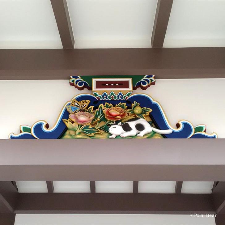 湯島天満宮 湯島天神 蟇股 かえるまた 猫 東京都 文京区 ポーラベア