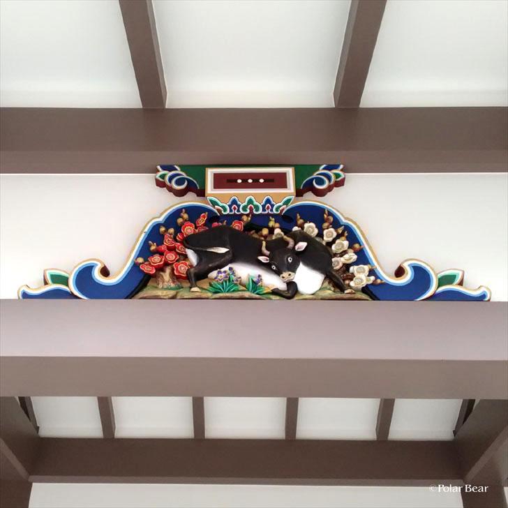 湯島天満宮 湯島天神 蟇股 かえるまた 牛 東京都 文京区 ポーラベア