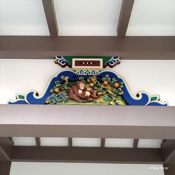 湯島天満宮 湯島天神 蟇股 かえるまた 猿 東京都 文京区 ポーラベア