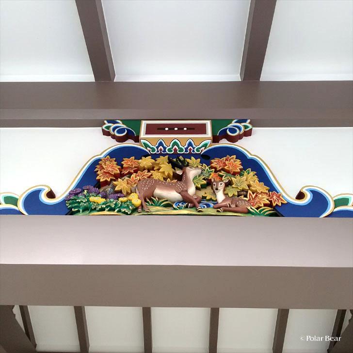 湯島天満宮 湯島天神 蟇股 かえるまた 鹿 東京都 文京区 ポーラベア