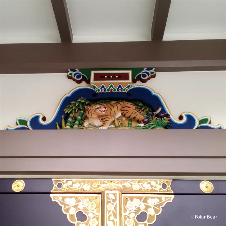 湯島天満宮 湯島天神 蟇股 かえるまた 虎 東京都 文京区 ポーラベア