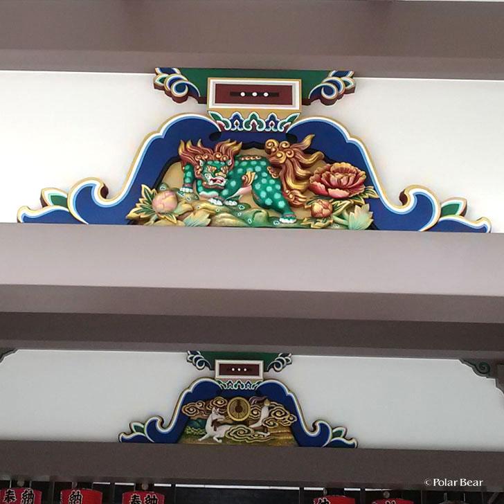 湯島天満宮 湯島天神 蟇股 かえるまた 獅子 狐 東京都 文京区 ポーラベア