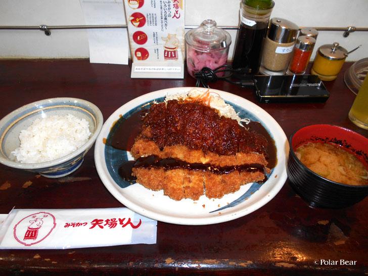 矢場とんさん わらじとんかつ定食 名古屋駅 ポーラベア