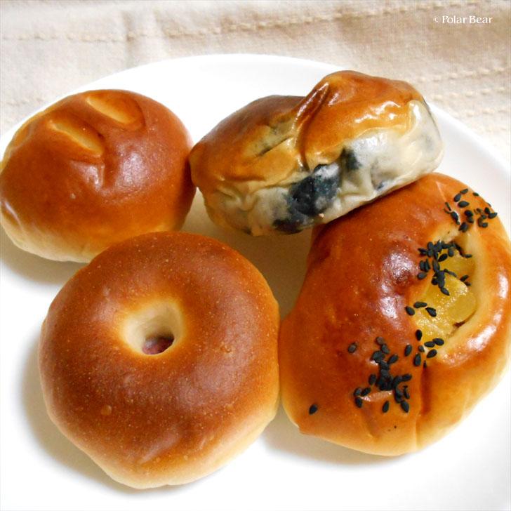 銀座 木村屋總本店 あんぱん 小倉あんパン さつま芋パン 豆パン ポーラベア