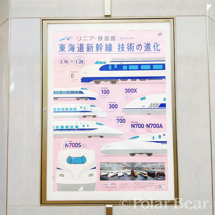 ポーラベア 株式会社ポーラベア 東京駅 ポスター リニア・鉄道館 新幹線