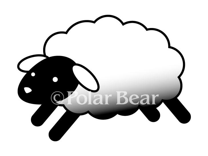 羊 ひつじ  sheep イラスト ポーラベア