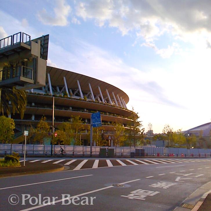 新国立競技場 ポーラベア 散策